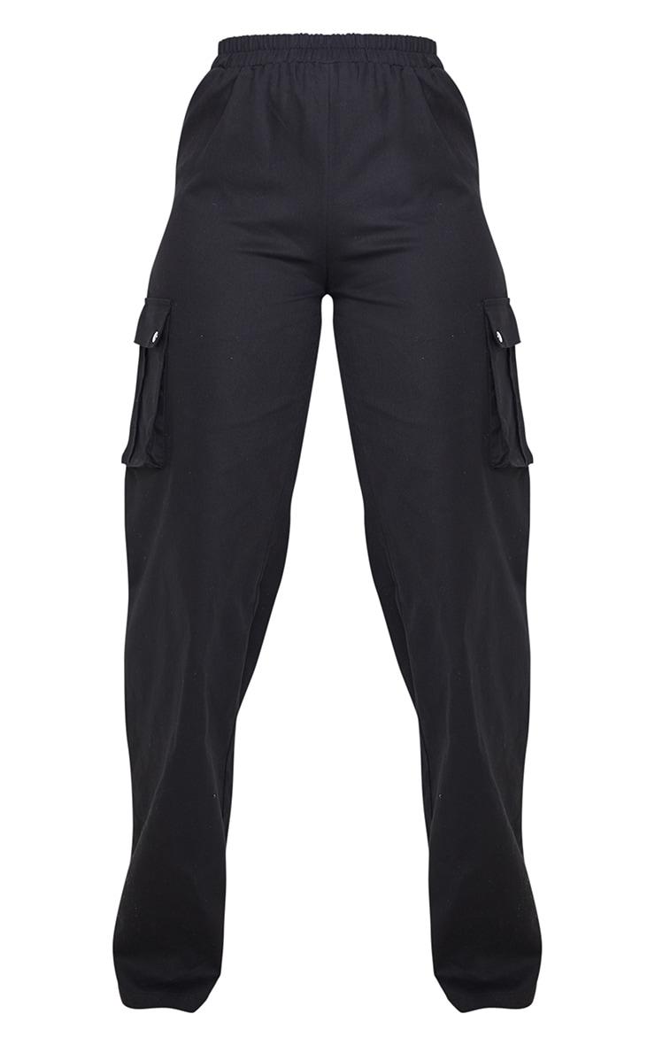 Petite Black Wide Leg Cargo Pants 3