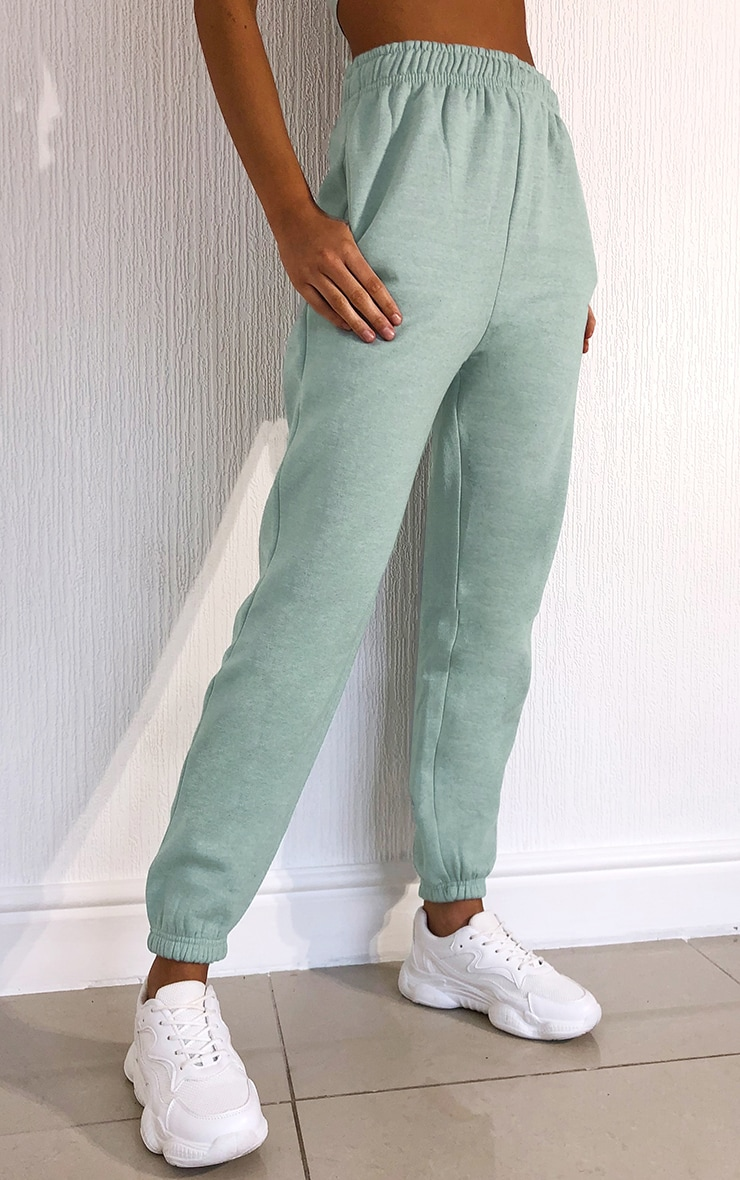 Washed Aqua Casual Joggers 2