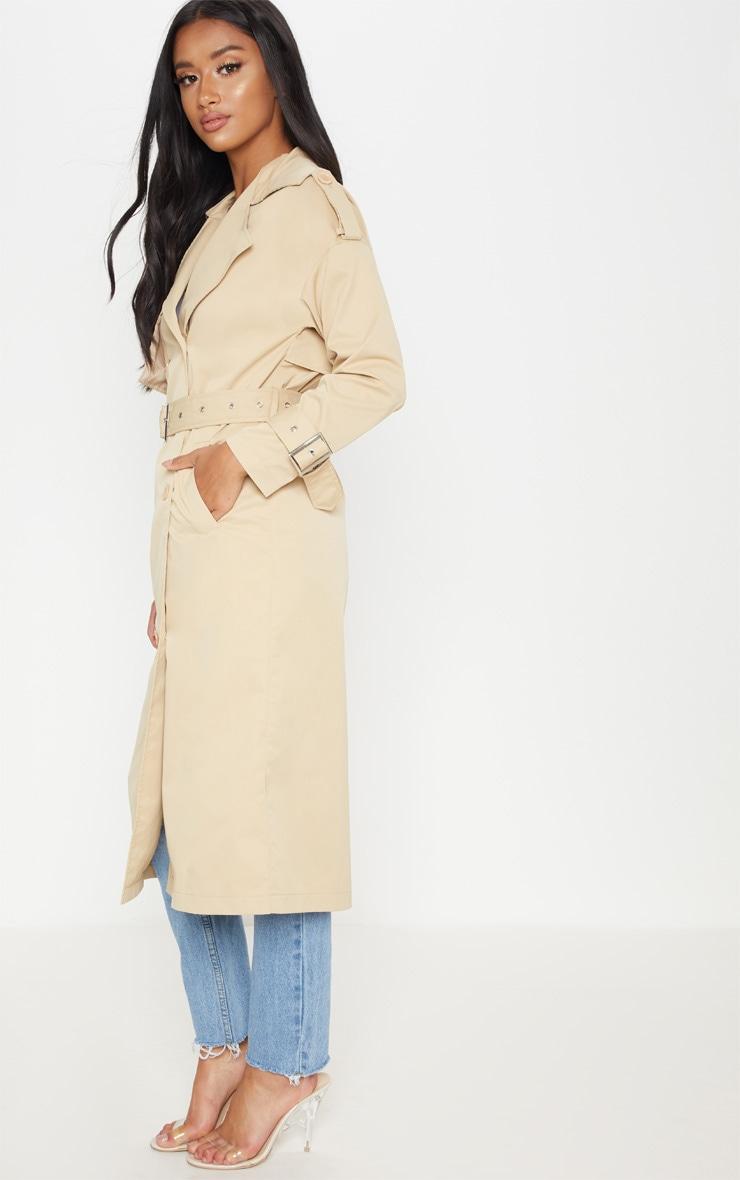 Petite - Trench coat beige 4