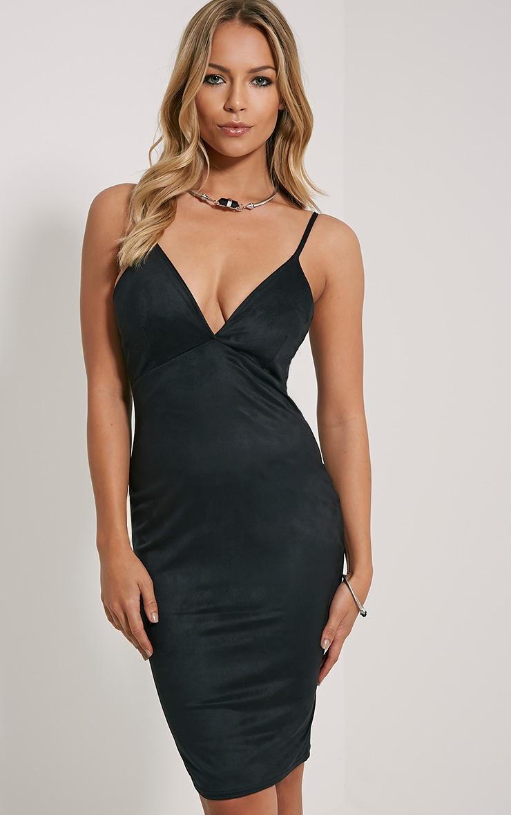 Nada Black Faux Suede Dress 1