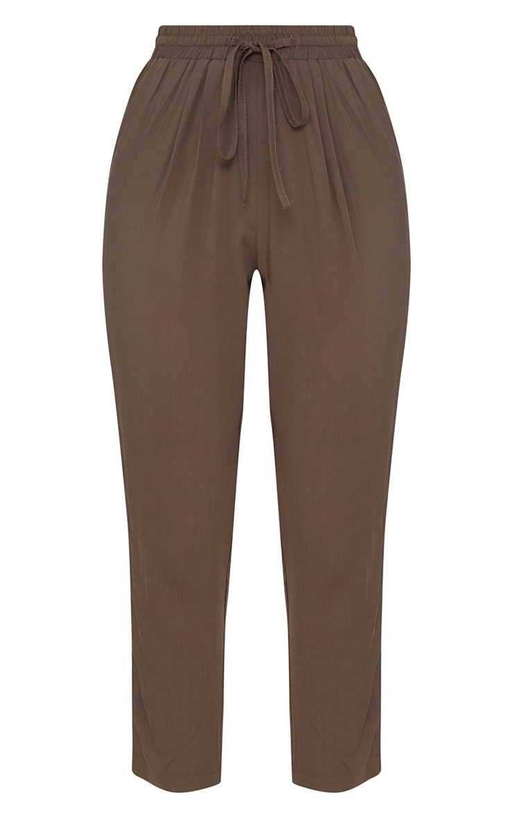 Petite Khaki Casual Pants  3