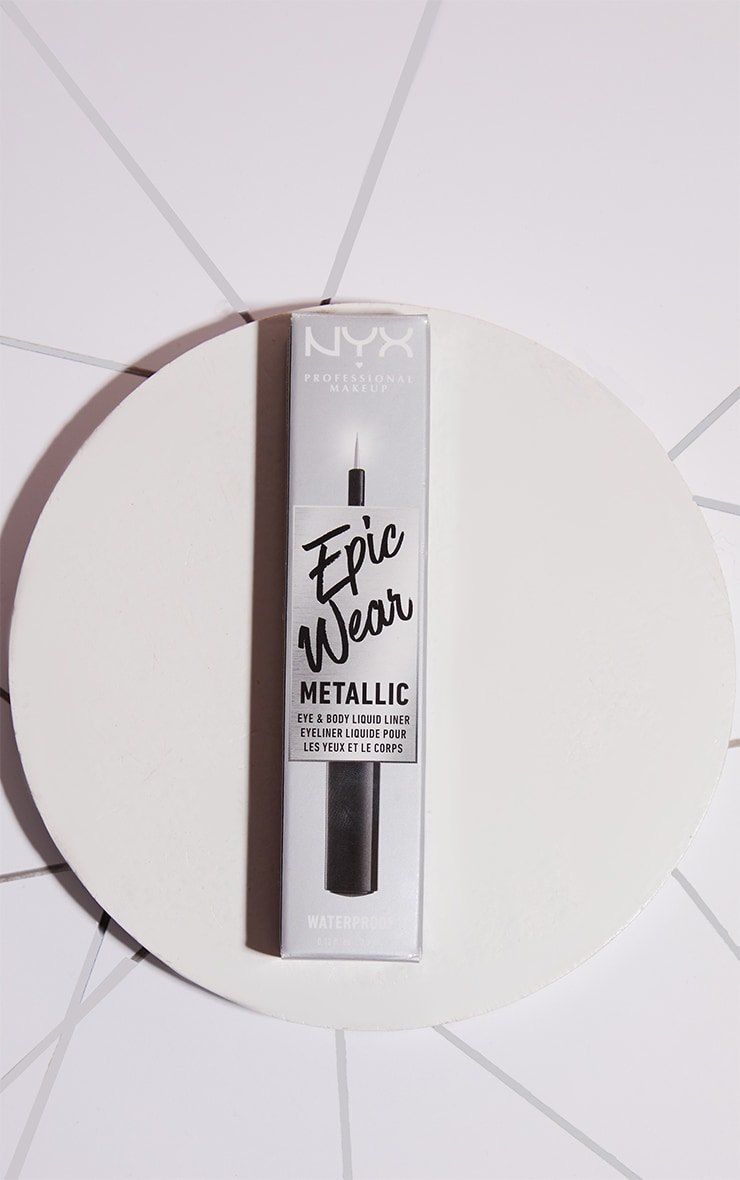 NYX PMU Epic Wear Metallic Liquid Liner Silver Metal 2