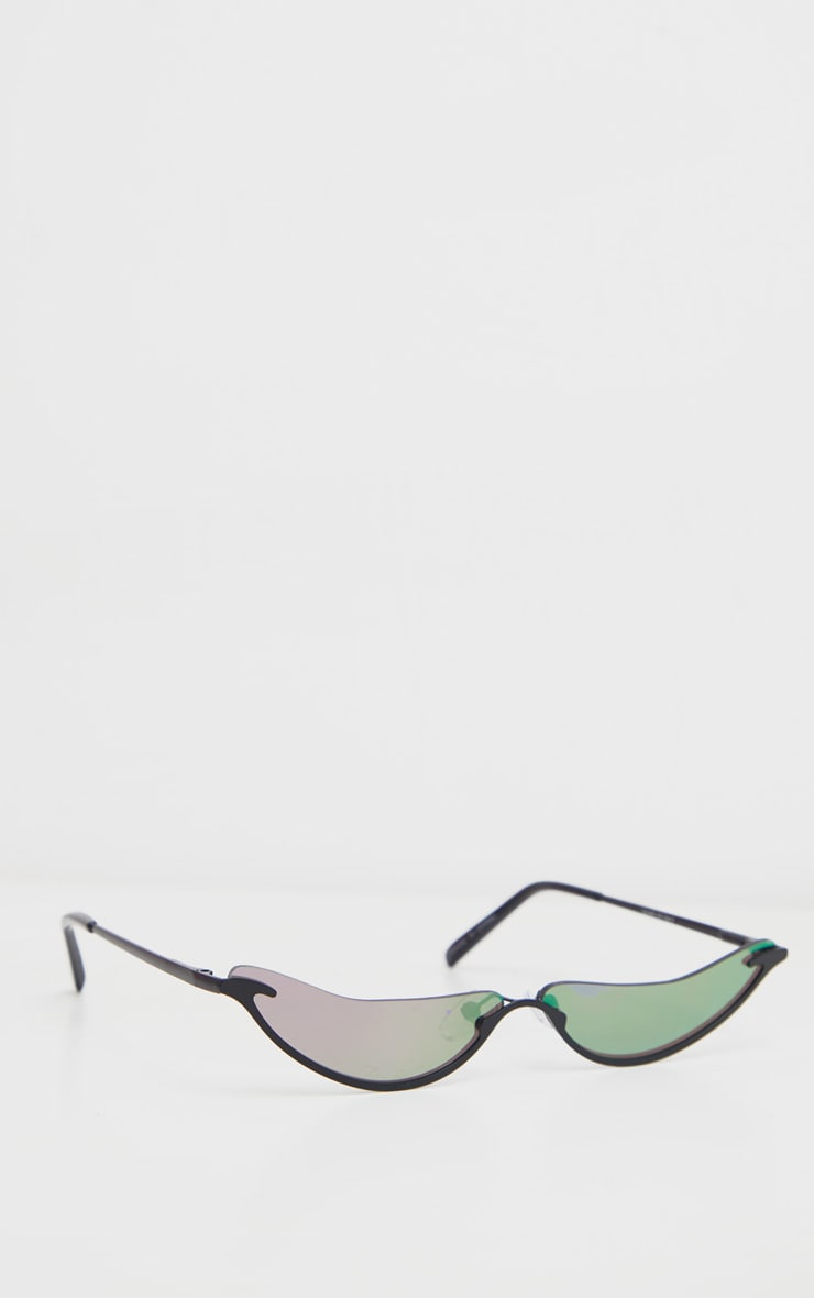 Purple Extra Slim Curved Sunglasses 2