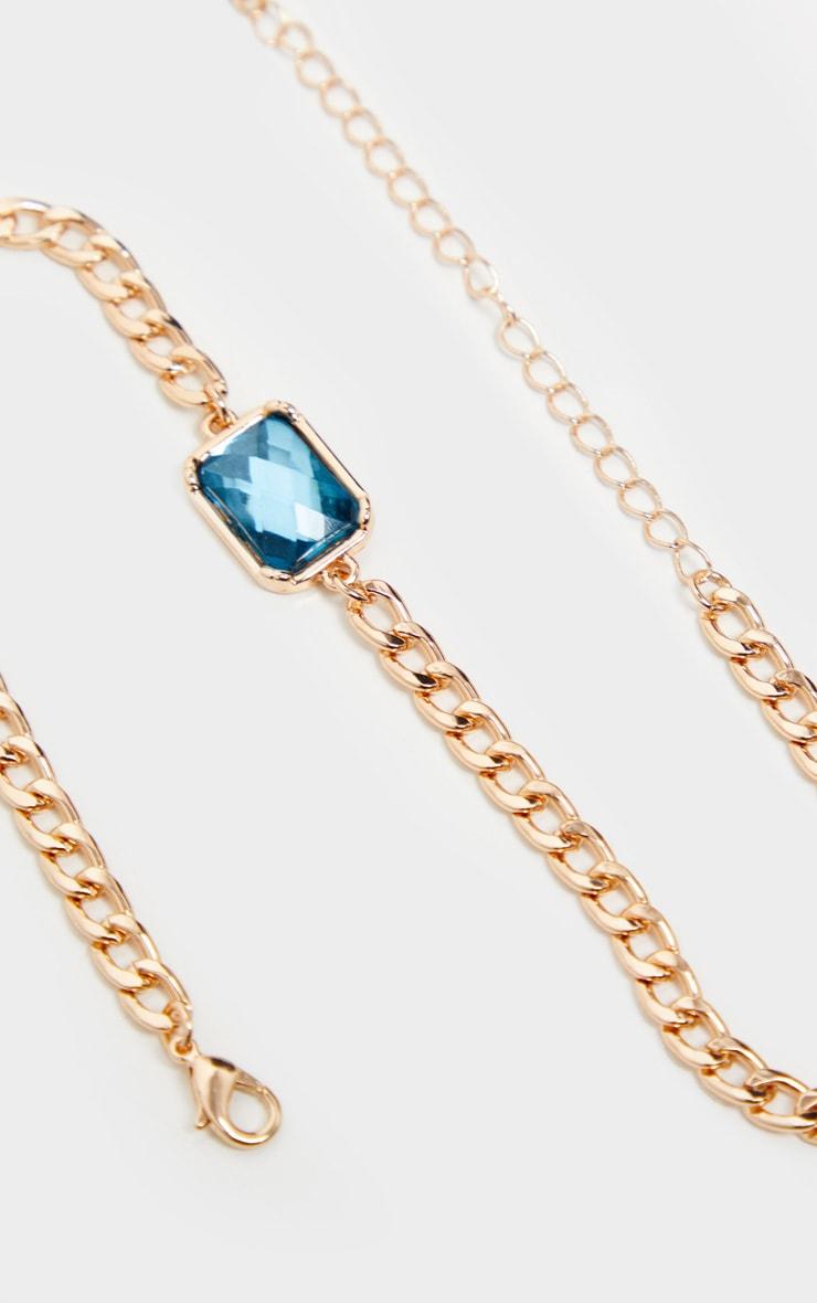 Gold Chain Turquoise Stone Choker 4