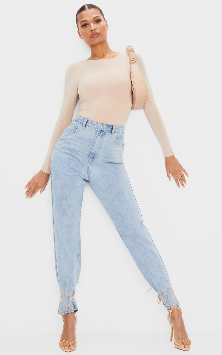 Amiee Slinky Stone Longsleeve Thong Bodysuit 3