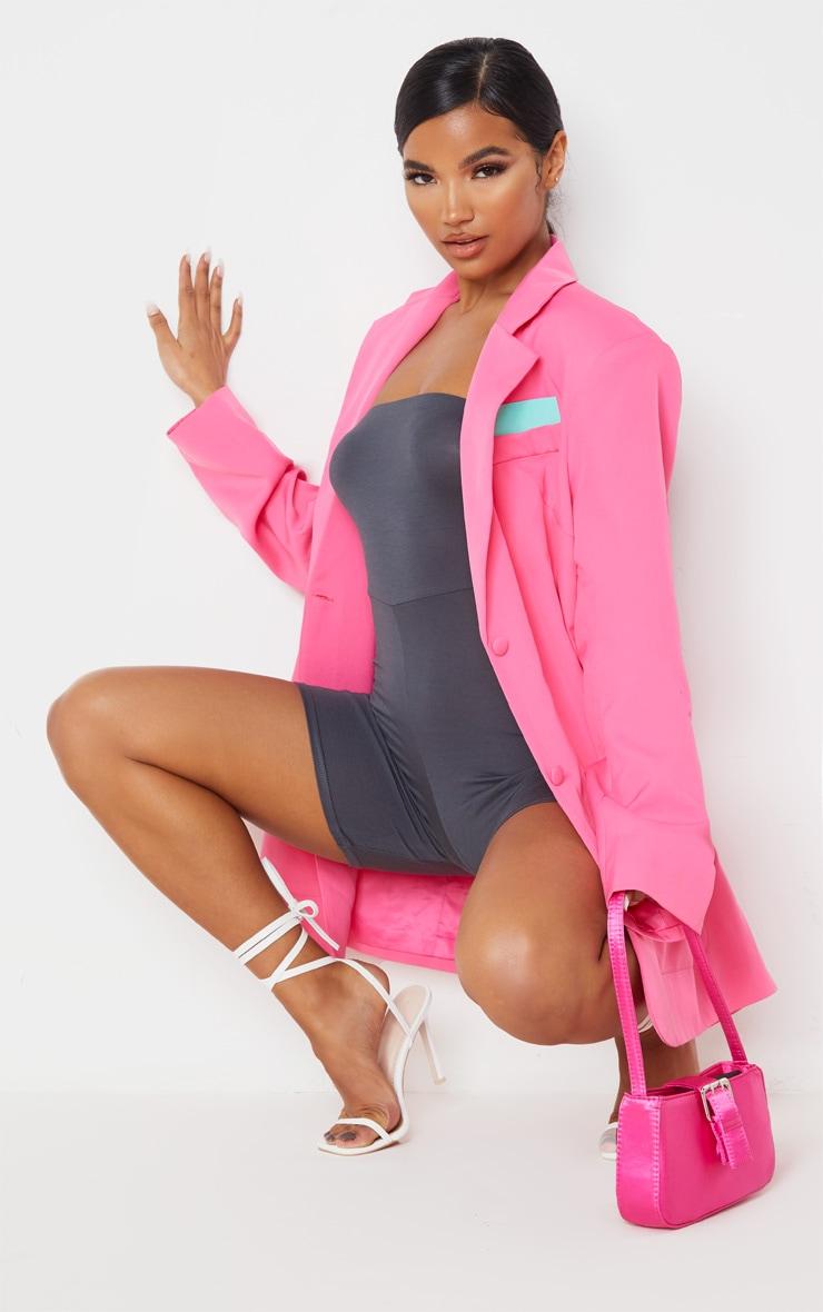 Pink Extreme Oversized Blazer 1