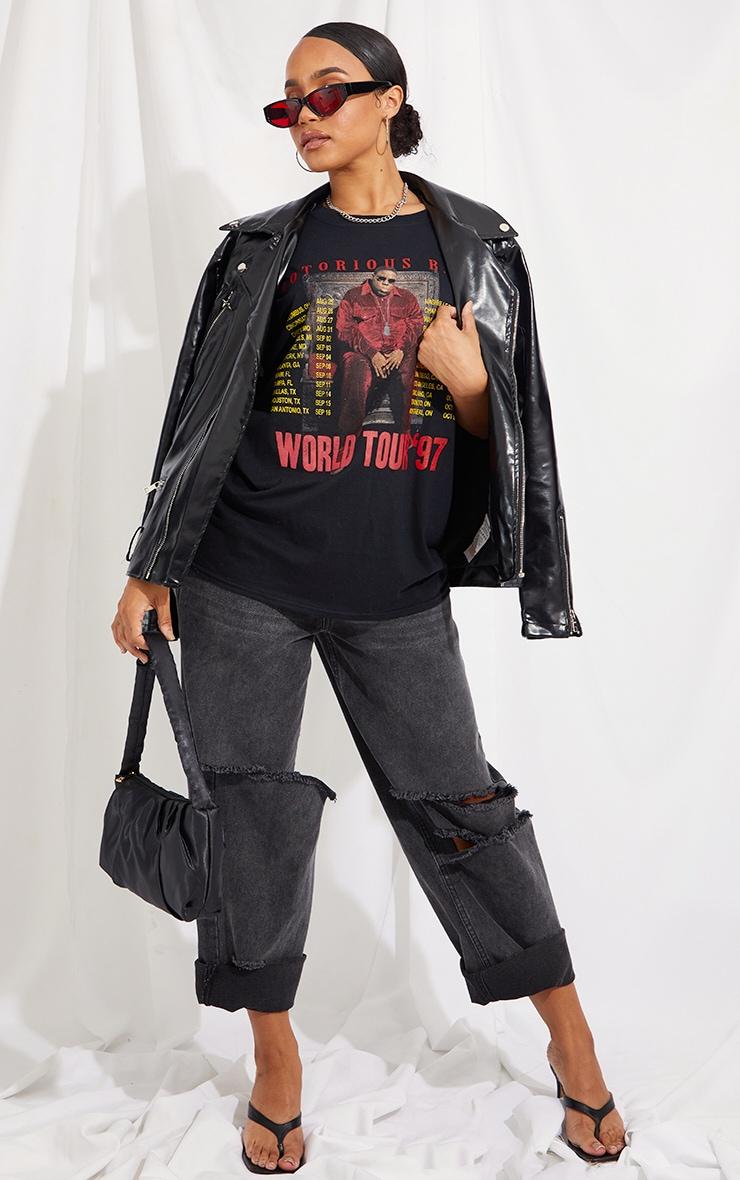 Charcoal Notorious B.I.G World Tour Printed T Shirt 3