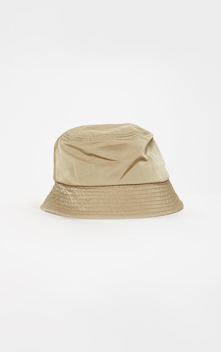 Khaki Nylon Bucket Hat 2