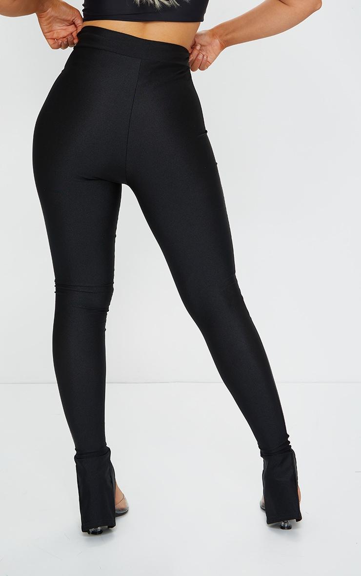 Black Disco Split Hem Skinny Trousers 3