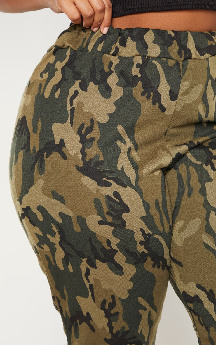 Plus Khaki Camo Track Pants 5