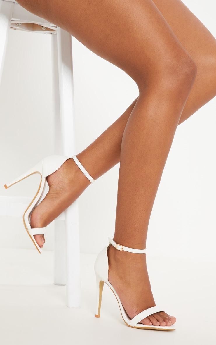 Clover White Strap Heeled Sandals 2