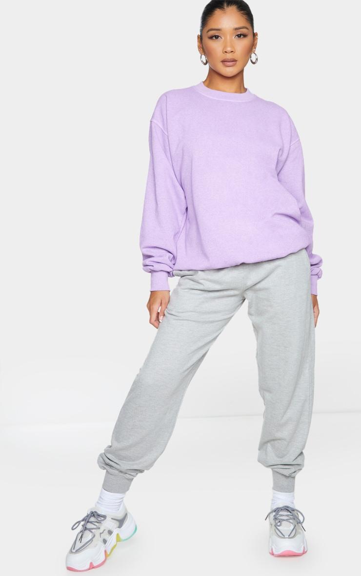 Purple Washed Sweatshirt 2