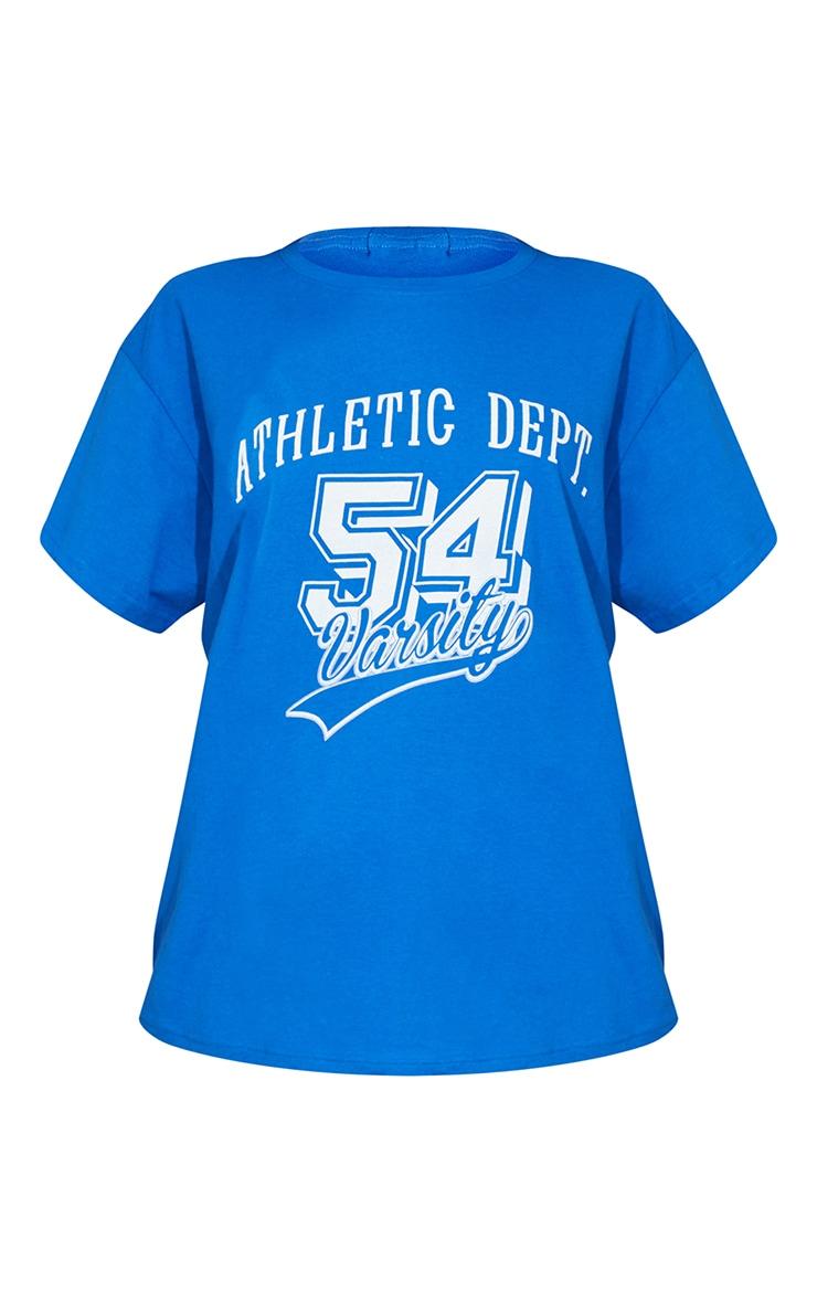 Royal Blue Athletic Department Printed T Shirt 5