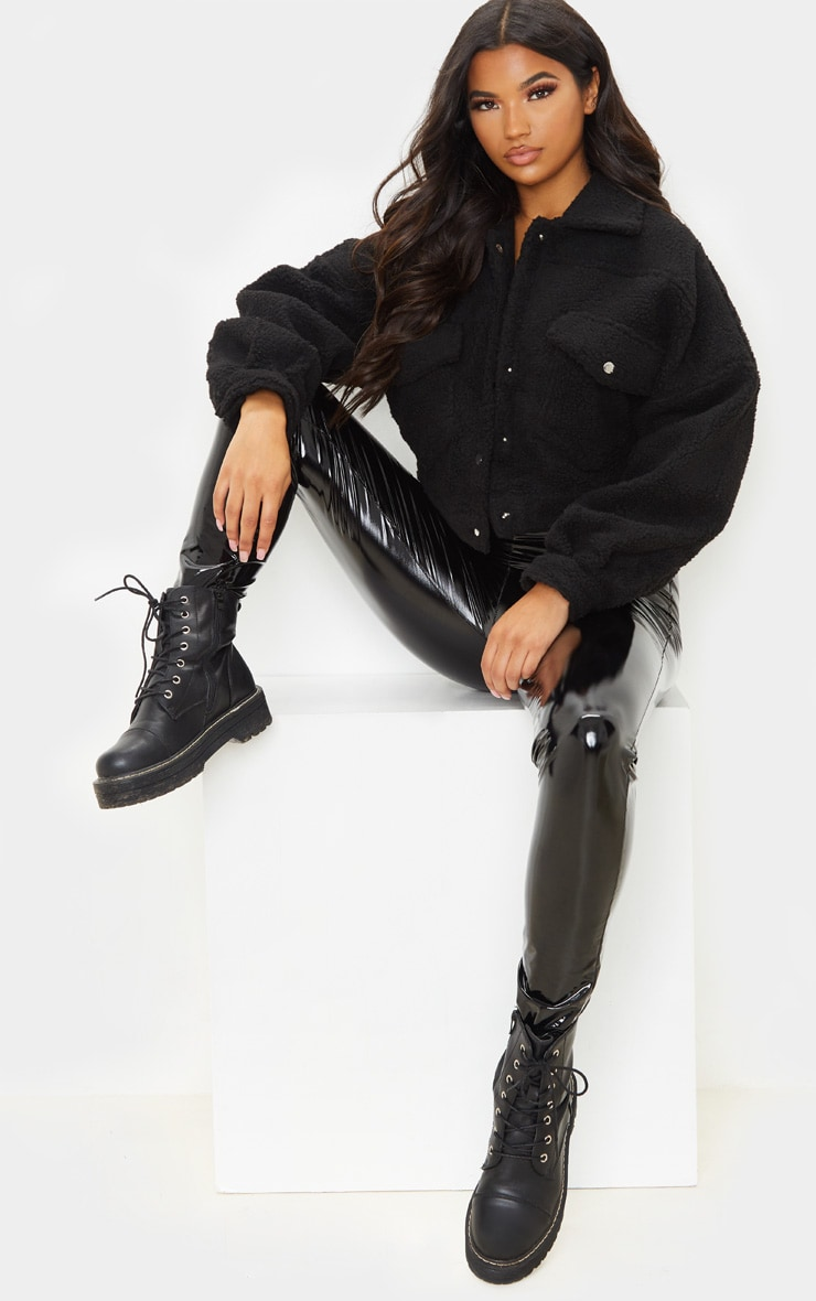 Black Borg Cropped Trucker Jacket 5