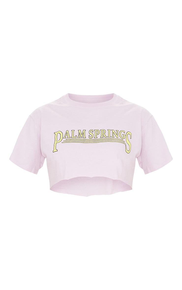 Lilac Palm Springs Crop  T Shirt 5
