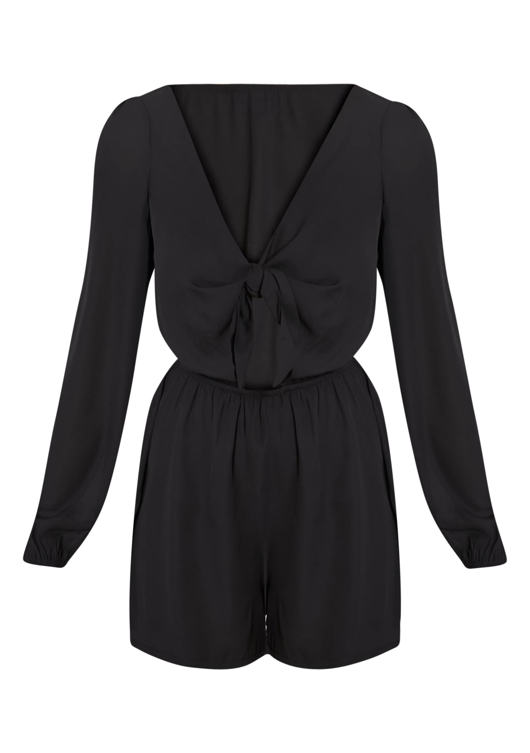Lima Black Tie Front Playsuit 3