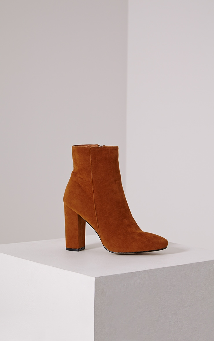 Behati Tan Faux Suede Ankle Boots 3