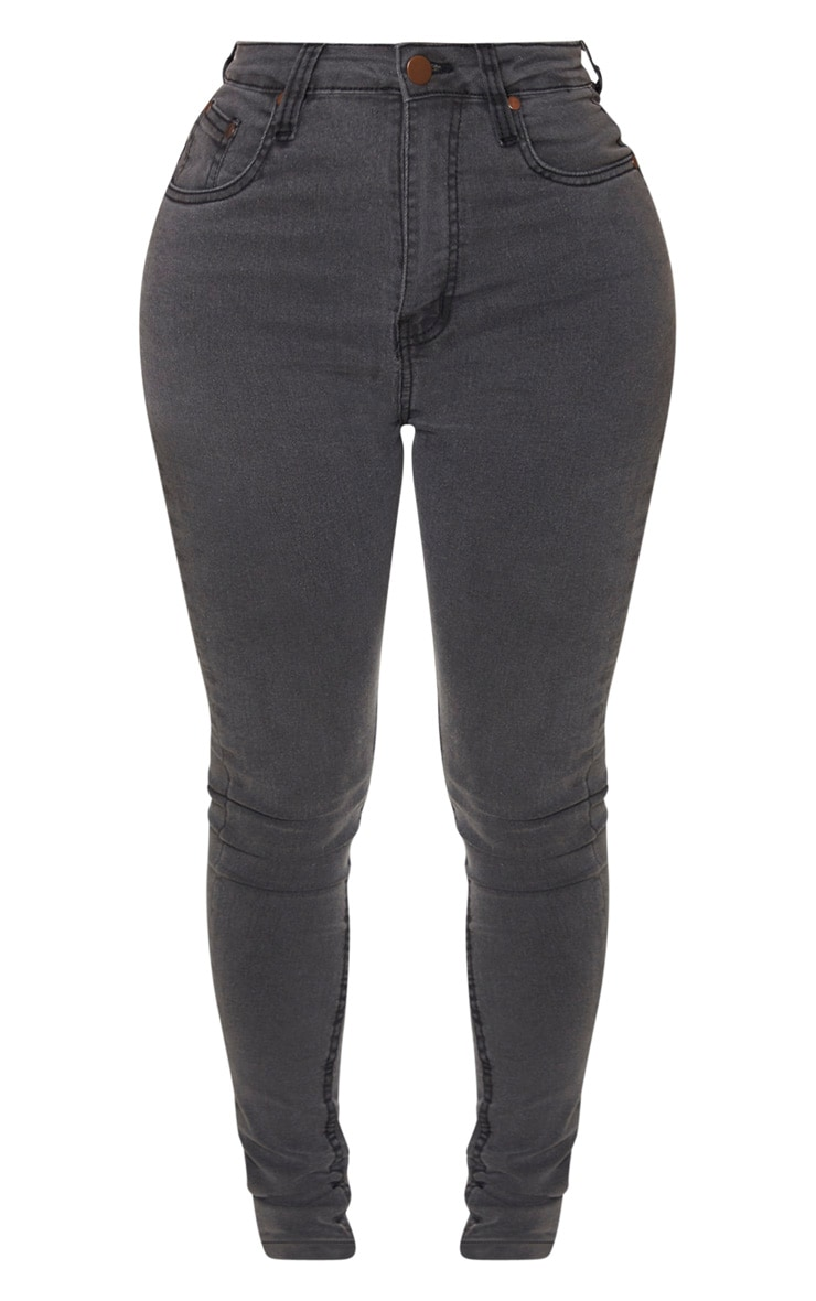Shape Charcoal High Waist Super Stretch Skinny Jeans 3