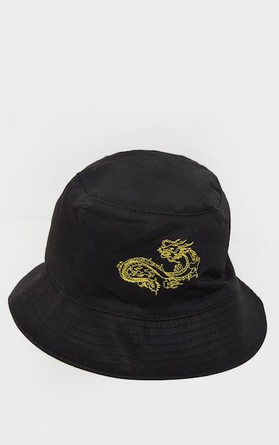 Black Dragon Embroidered Bucket Hat