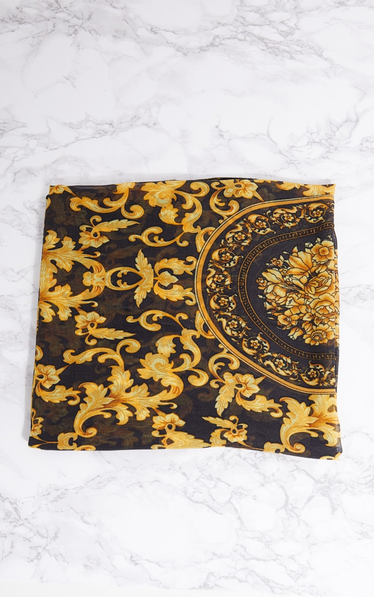 Gold Chain Print Head Scarf 4