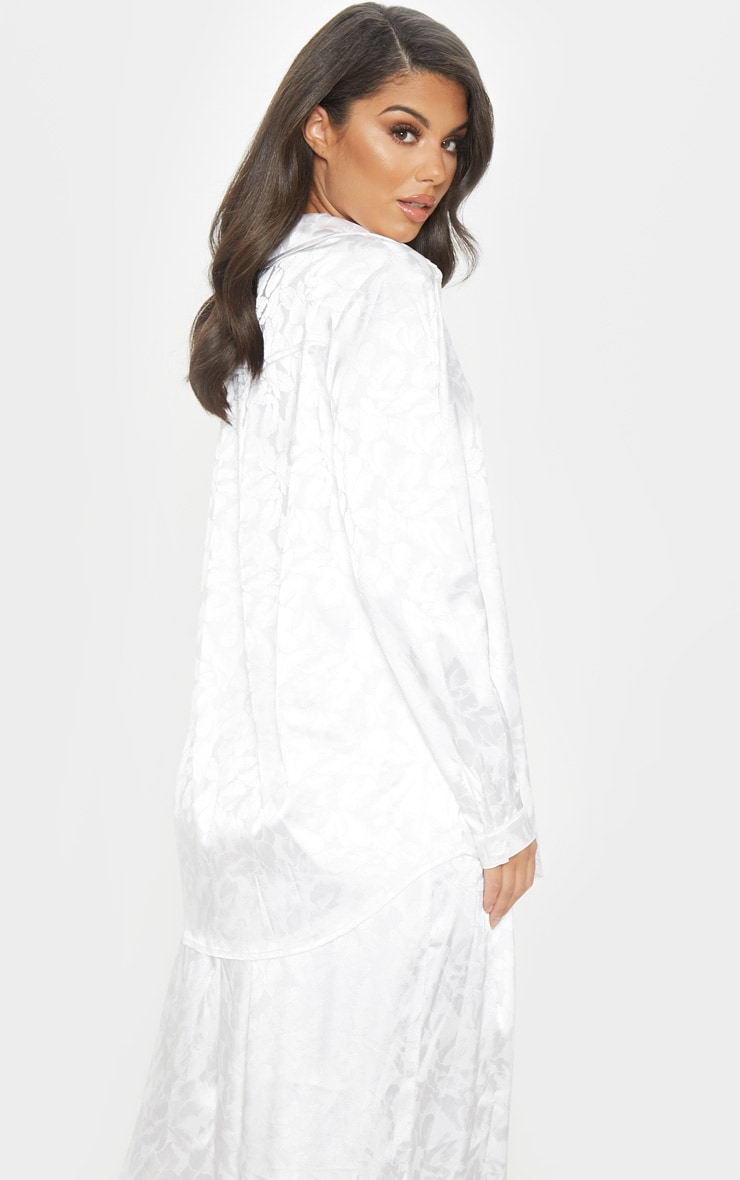 Cream Oriental Jacquard Oversized Shirt 2