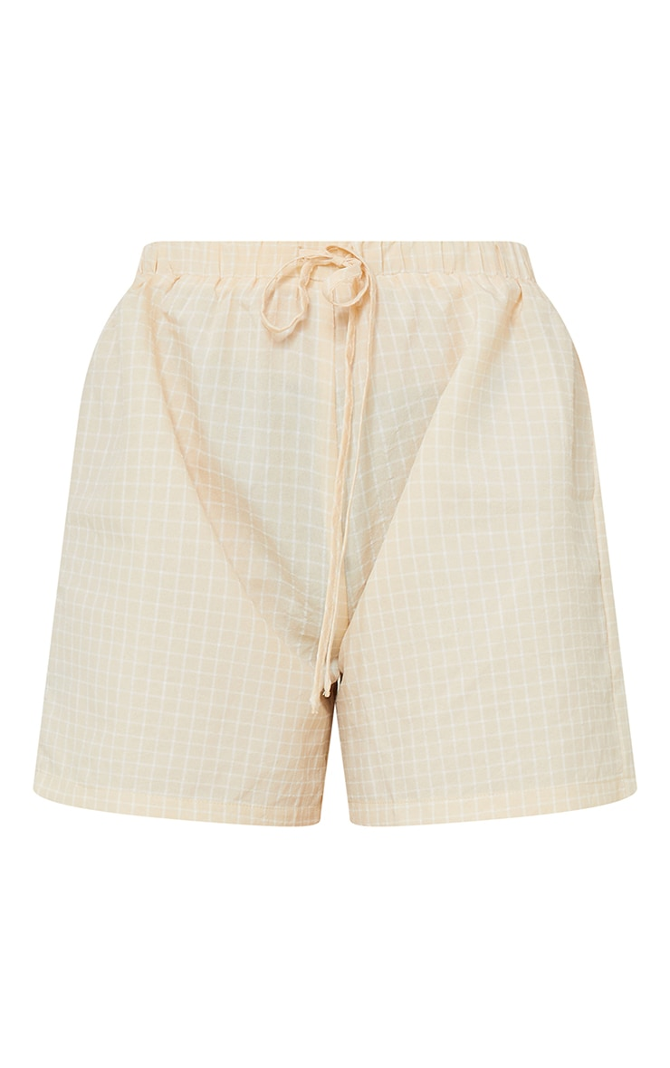 Petite Stone Checked Longline Shorts 6