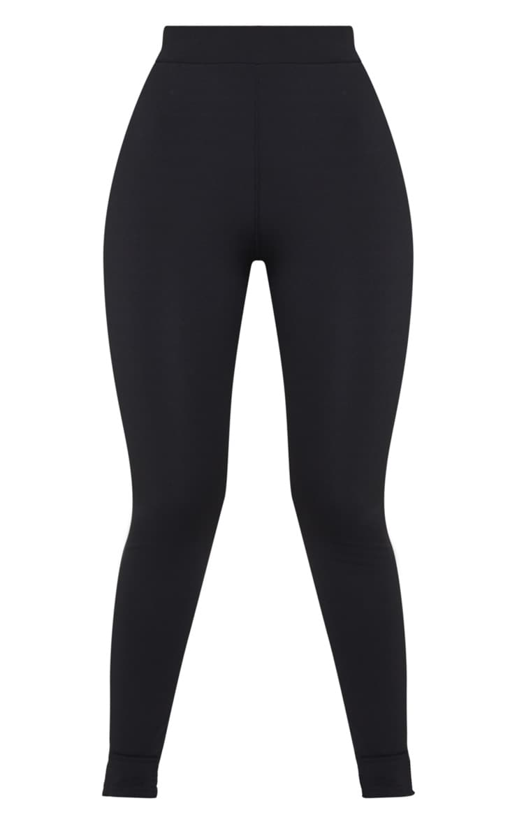 Black Line Detail Printed Gym Leggings 5