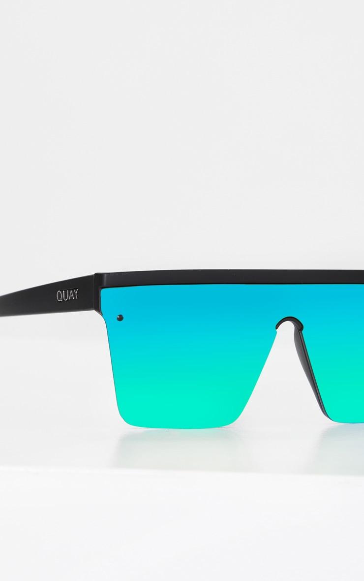 QUAY AUSTRALIA Black Flat Bar Multi Lense Hindsight Sunglasses 2