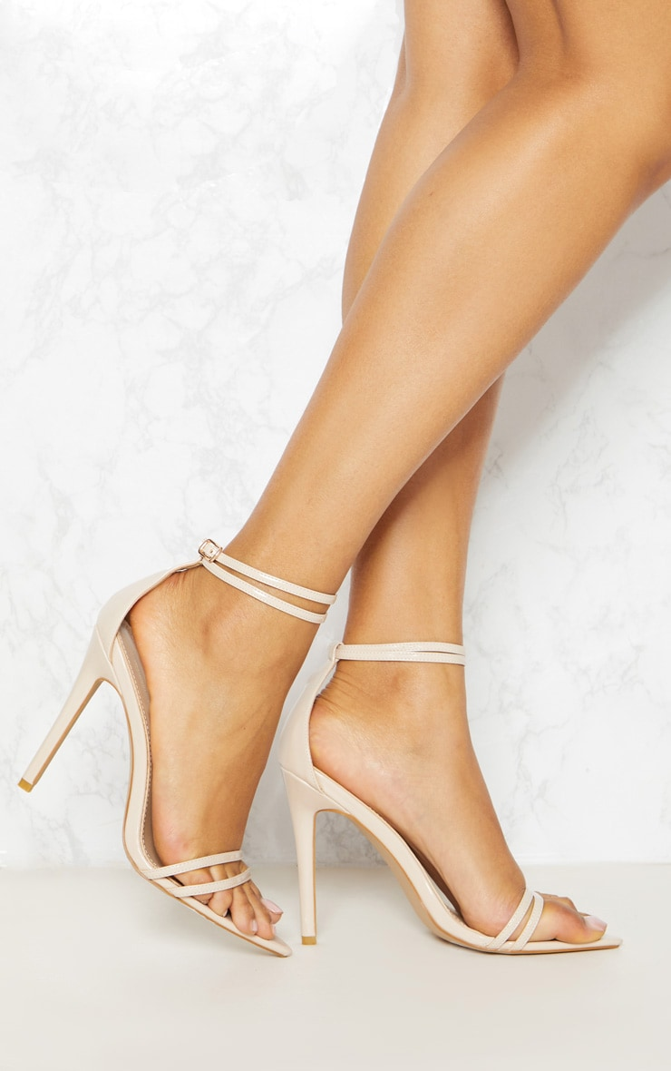 Nude Point Toe Barely There Sandal 1