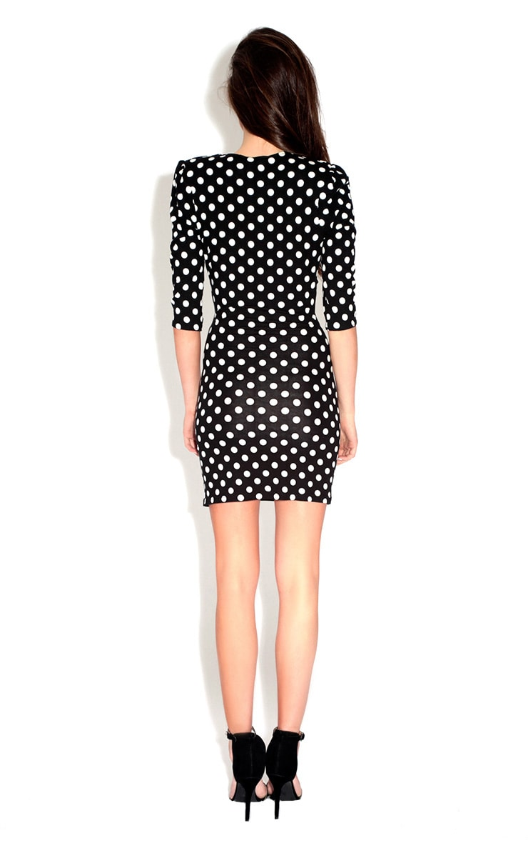 Polkadot Cut-Out Dress 2