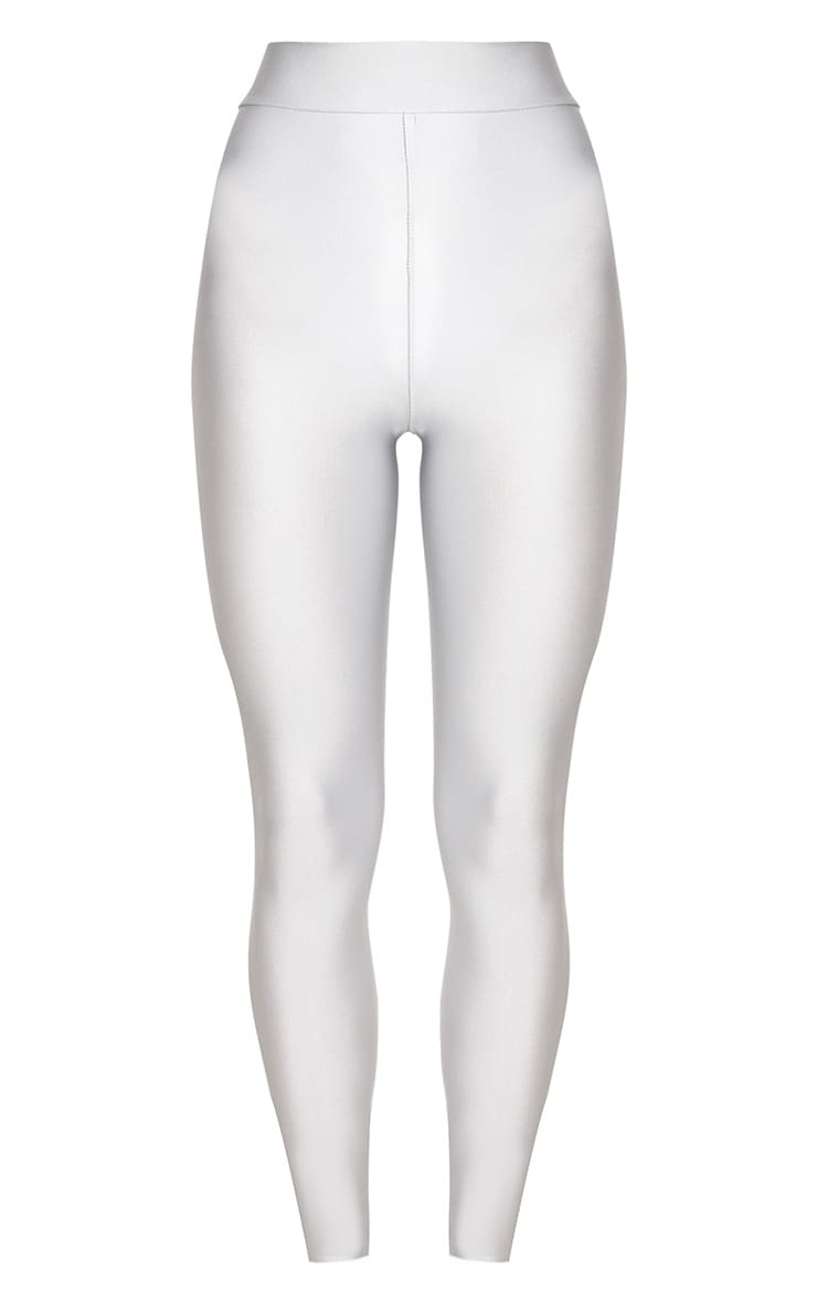 Silver Disco Highwaisted Leggings 3