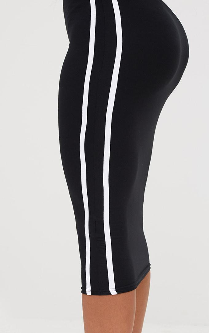 Shape Black Stripe Side Midi Skirt 6