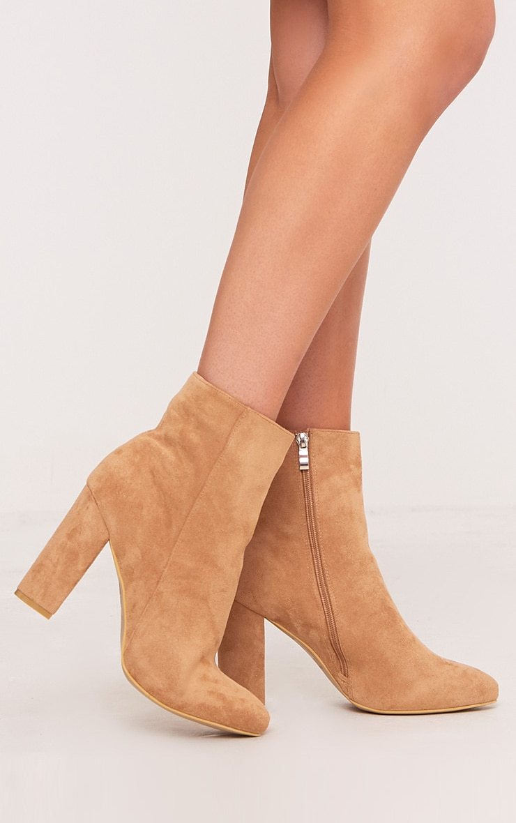 Behati Stone Faux Suede Ankle Boots 1