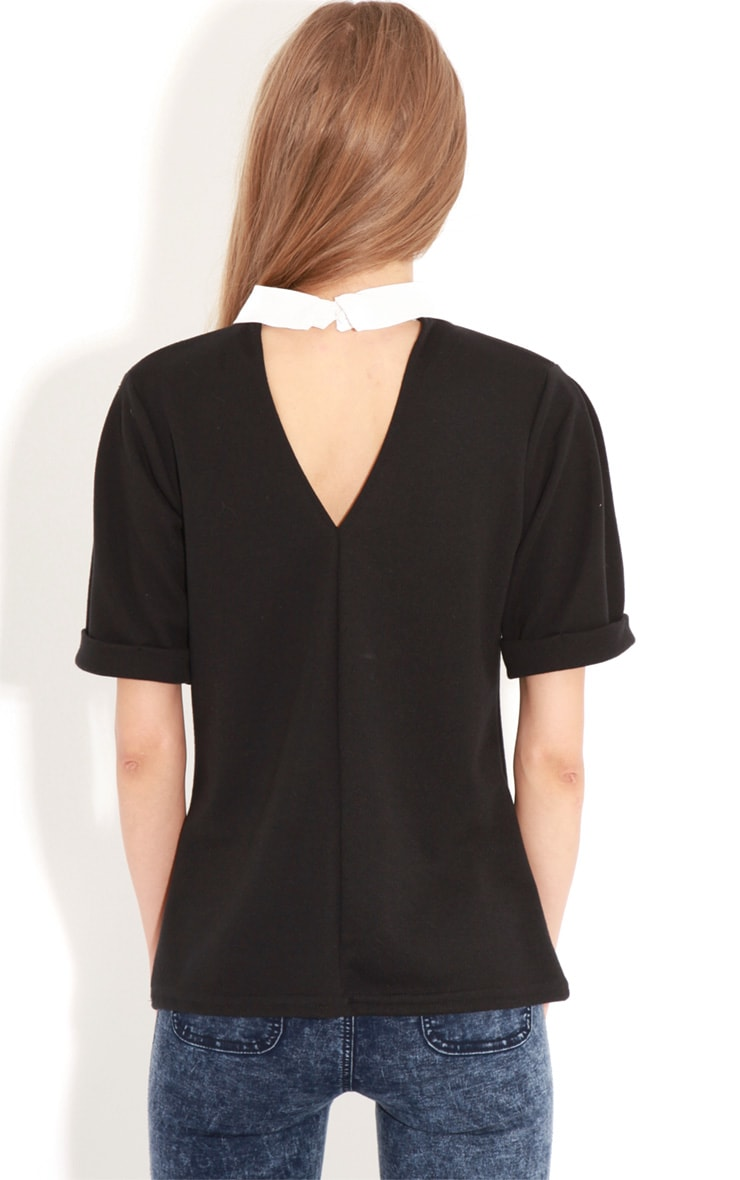 Albany Black Collar Top 2
