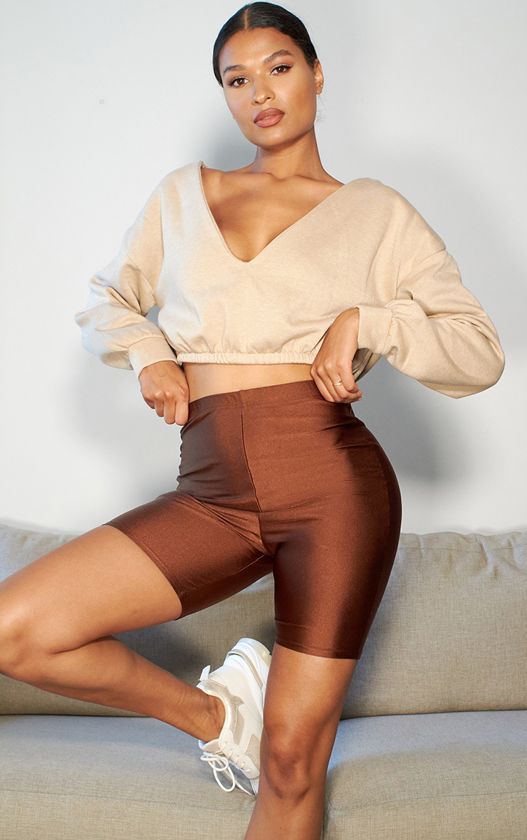 Brown Disco Bike Shorts 1
