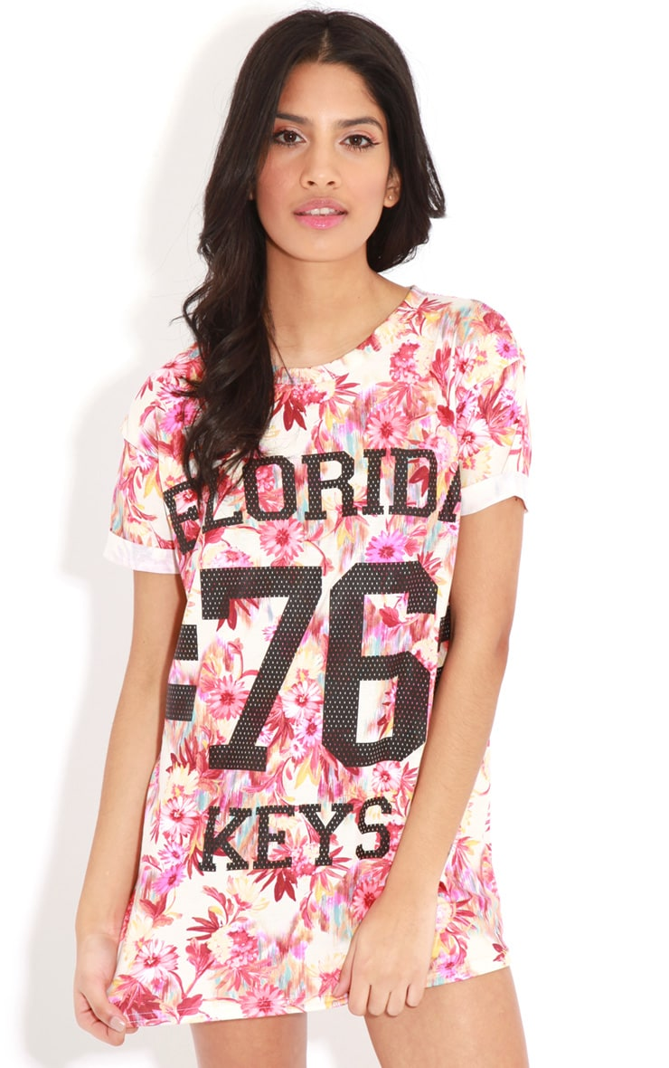 Layla Red Floral Florida 76 Sports Tee  4