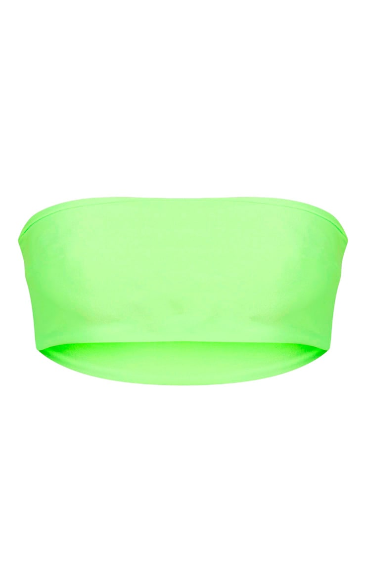 Lime Mix & Match Bandeau Bikini Top 3