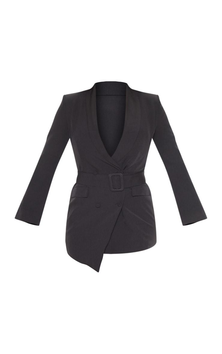 Black Belt Blazer Dress 3
