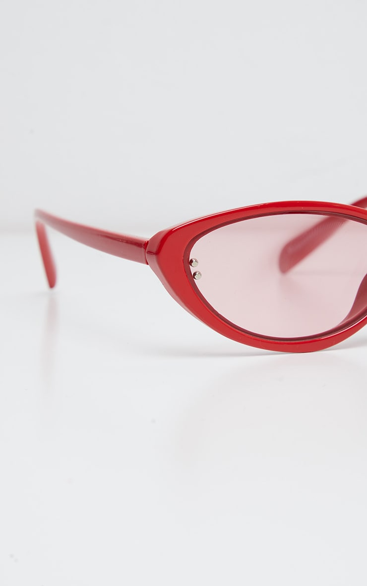 Red Cat Eye Tinted Lens Sunglasses 4