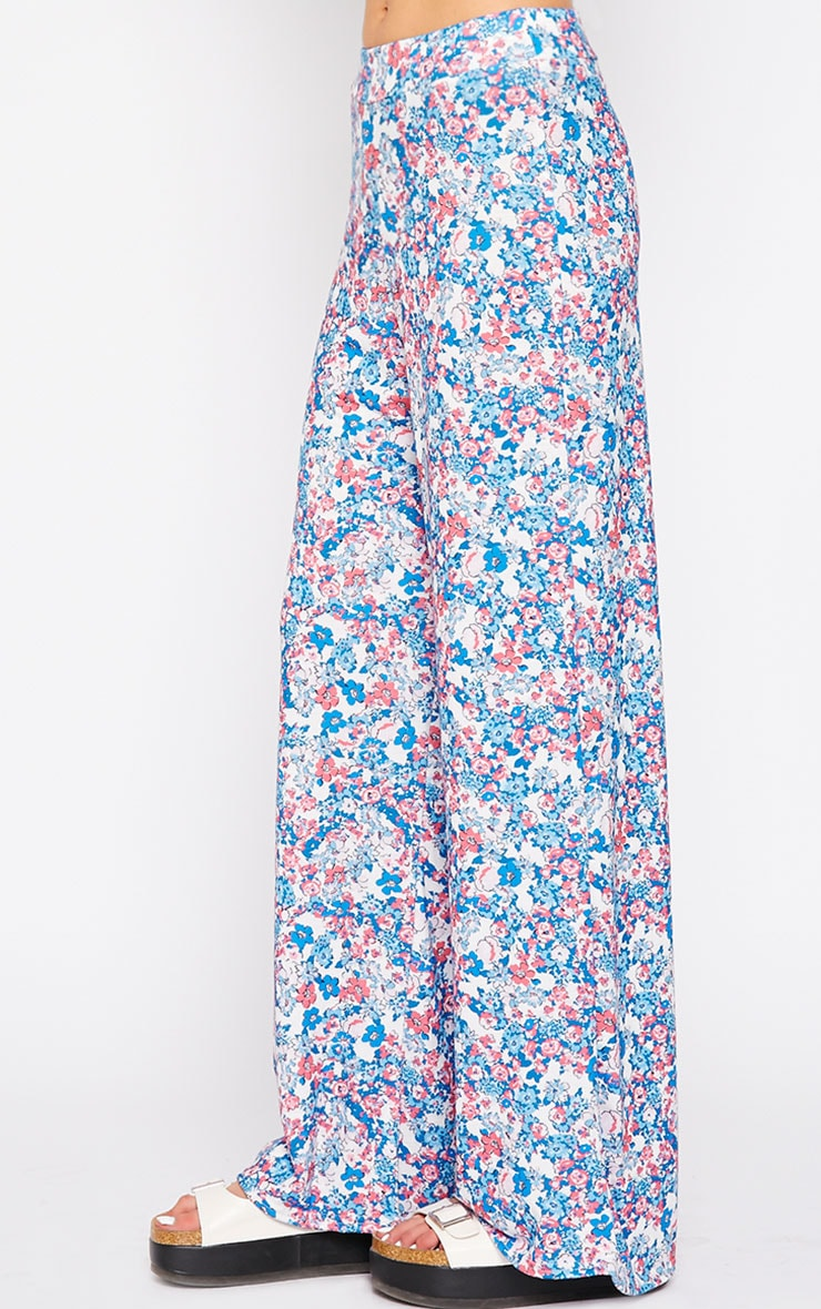 Flo Pink Floral Palazzo Pants 3
