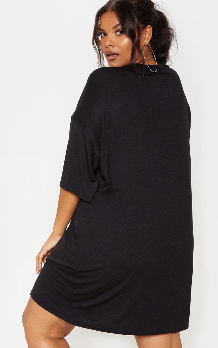 Plus Black T-shirt Dress 3