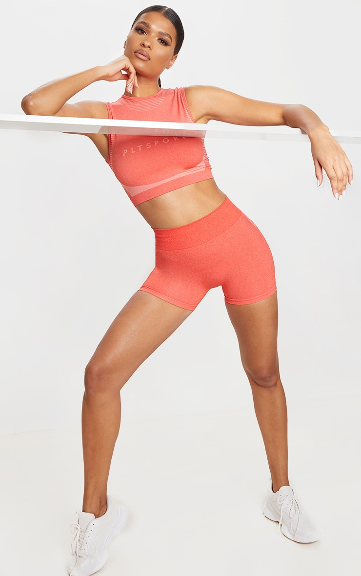 Coral Seamless Contour Booty Shorts 4