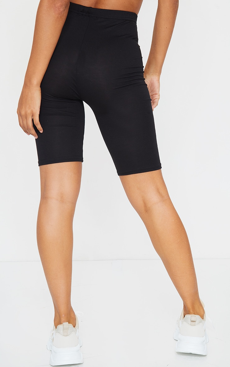 Black and Grey Basic Jersey 2 Pack Cycle Shorts 3