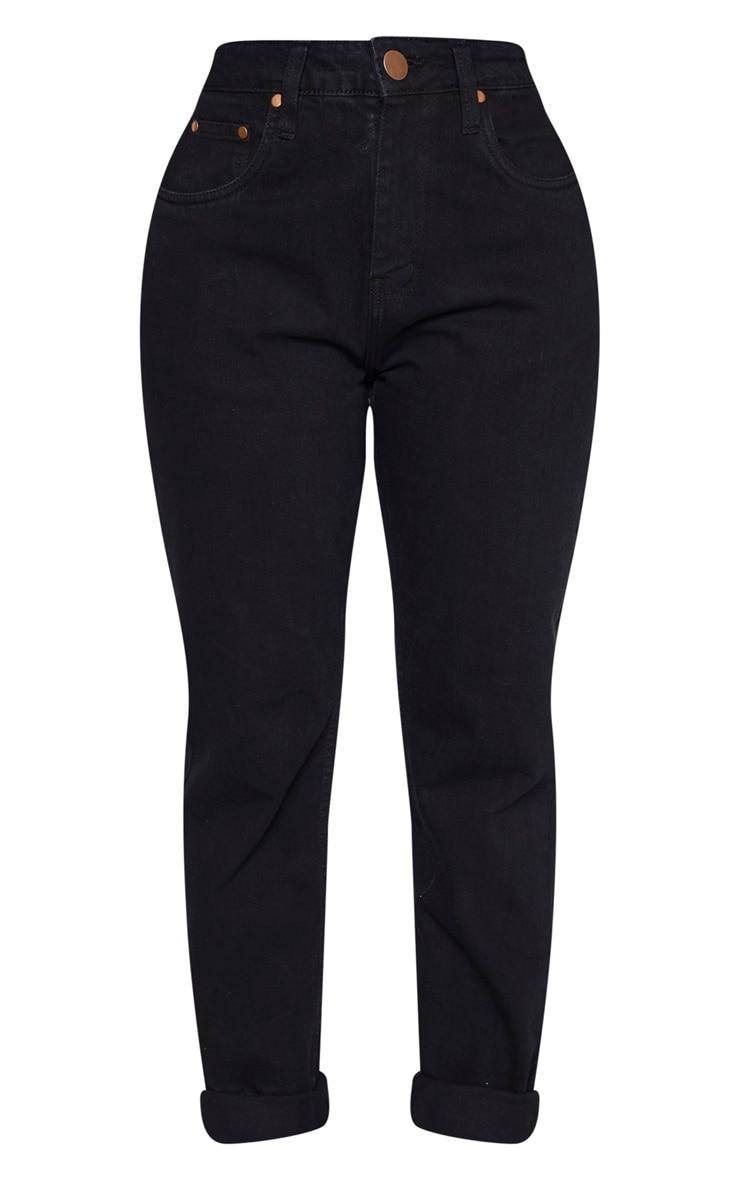 Shape Black High Waist Mom Jeans 3