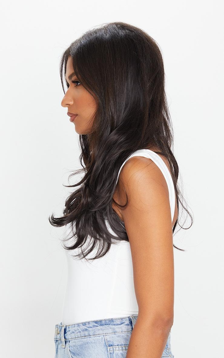 Lullabellz Super Thick 16 5 Piece Blow Dry Wavy Clip In Hair Extensions Dark Brown 2