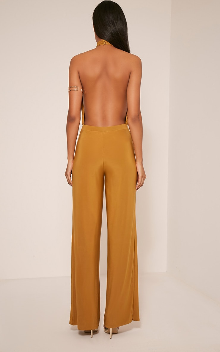 Laurie Gold Backless Choker Detail Slinky Jumpsuit 3
