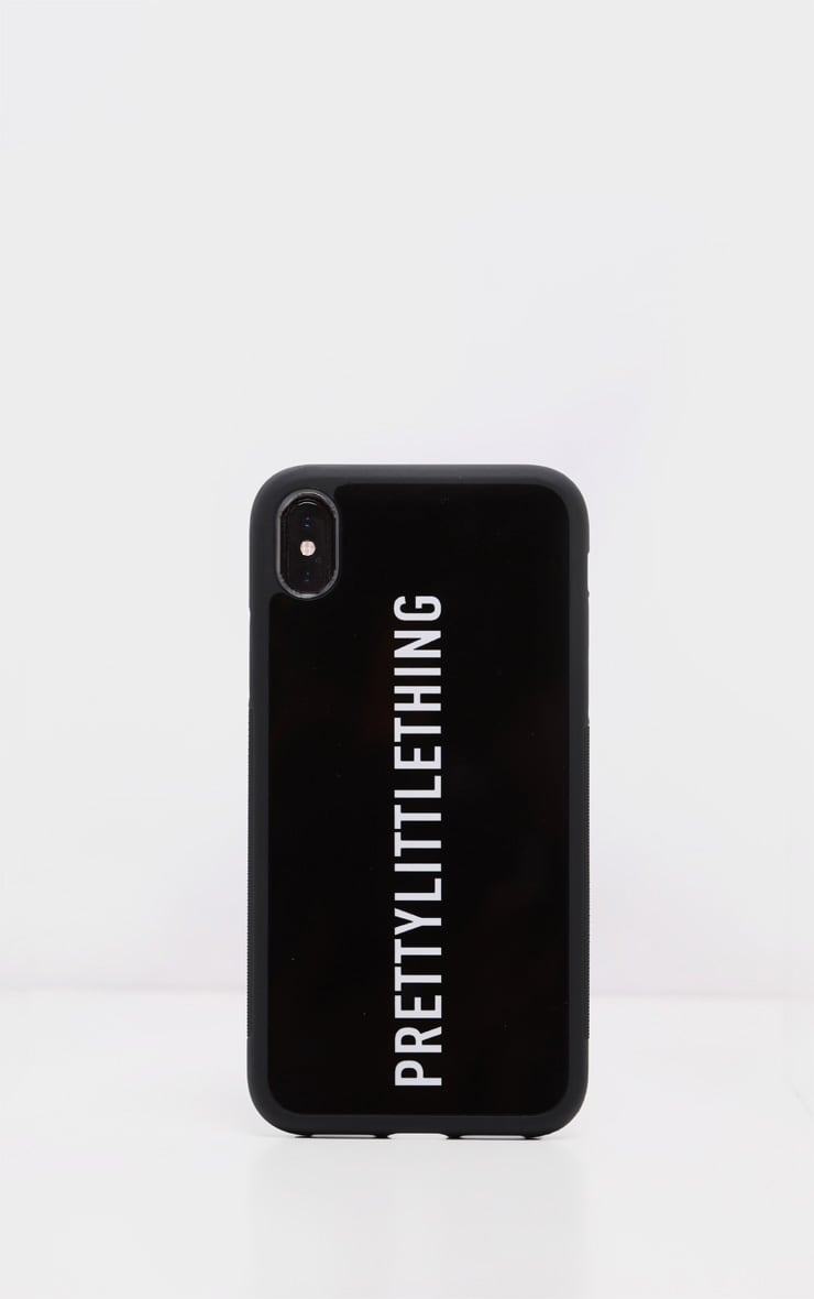 PRETTYLITTLETHING Black Logo XS Max iPhone Case 2