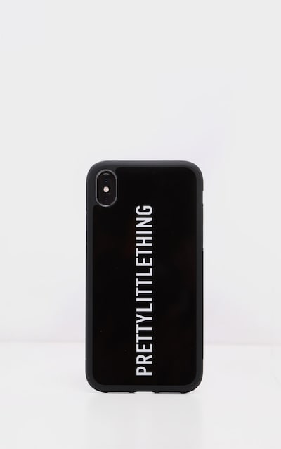 PRETTYLITTLETHING Black Logo XMAX iPhone Case