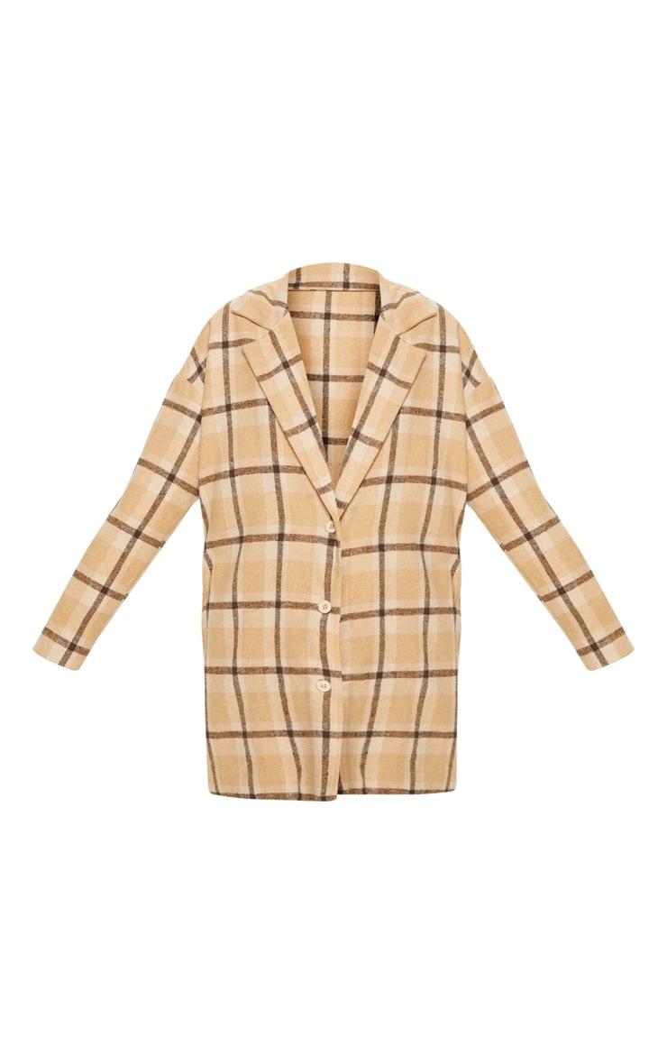 Stone Checked Oversized Coat 3