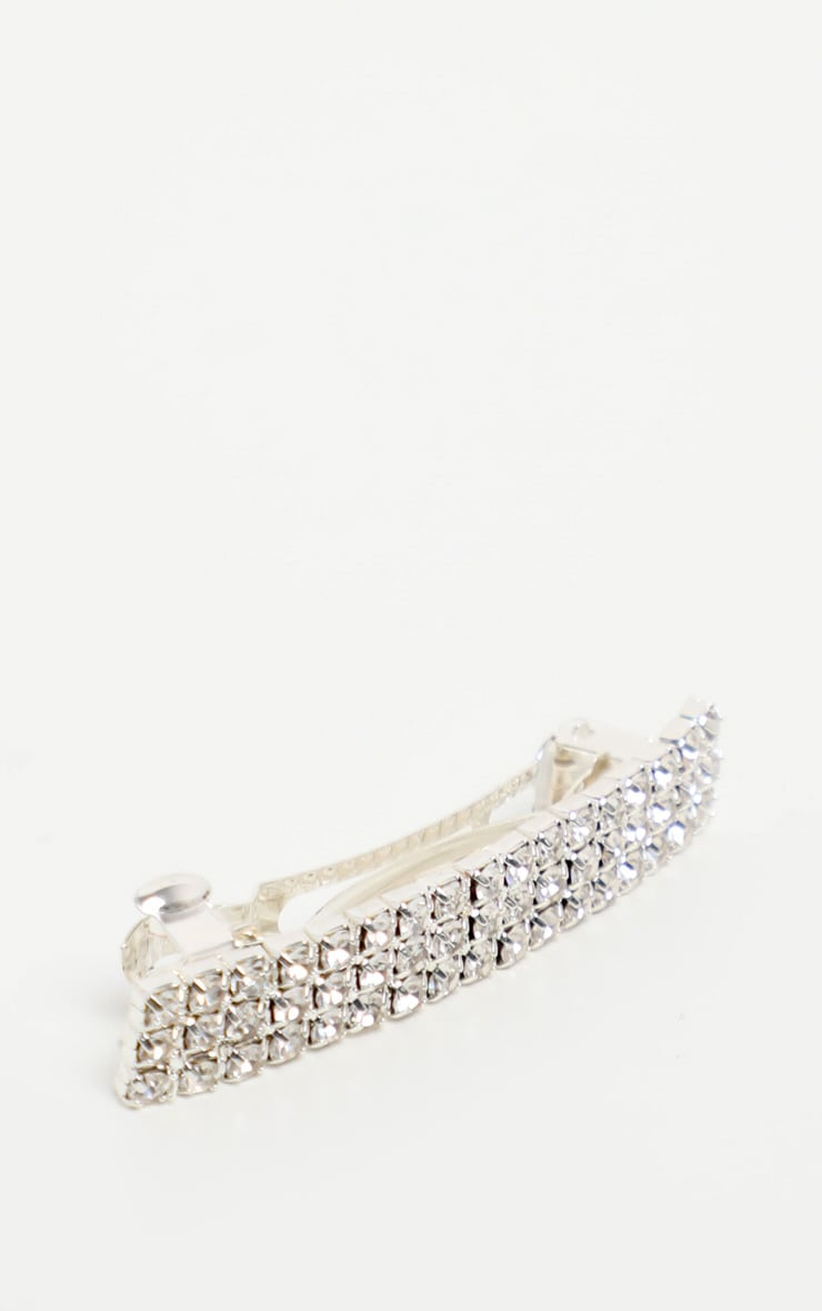 Silver Diamante Hair Slide 4